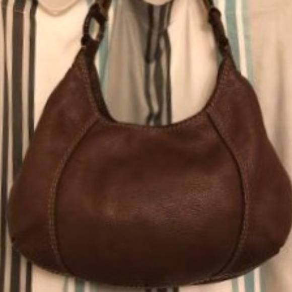 Lucky Brand Pebbled Leather Hobo Style Satchel Bag
